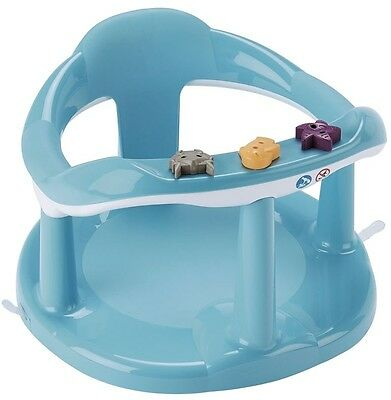 Aquababy Bath Seat Blue Baby Toddler Bathing with 3 swivel toys Safe & Secure