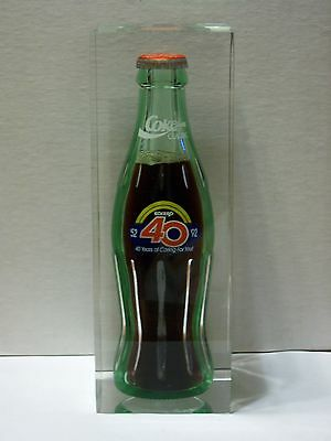 8 Oz Coca Cola Commemorative Bottle - 1992 Eckerd Drugs 40 Years (Lucite)