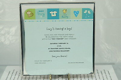 New Baby Boy Announcements Hallmark~10 In Box~Printer Or Pen~Free Ship Us