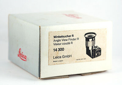 Leica Angle Viewfinder (Product #14300) For Leicaflex / Leica R in BOX w/ Instru