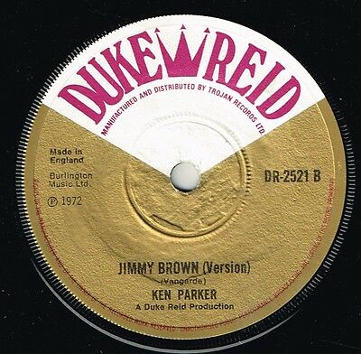 "KEN PARKER-jimmy brown  7""  duke reid  (hear)       boss reggae"