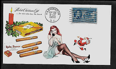 1950 Robert Burns Cigars & Pin Up Girl Featured on Collector's Envelope *198