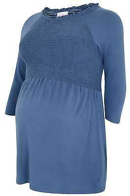 Womens Bump It Up Maternity Steel Top With Ruched Bust, Plus Size 16 To 36