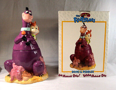 1994 The Flintstones Hanna-Barbera Cookie Jar in Box - Dino & Pebbles
