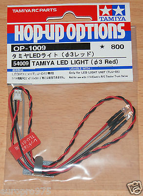 Tamiya 54009 LED Light (3mm Red) (Use with TLU-01 & TLU-02), NIP