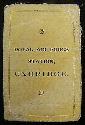 RAF Station Uxbridge 1920 Permit to Miss Corrie & Associated Papers