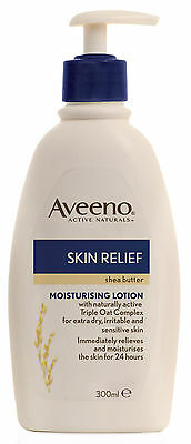 Aveeno Body Lotion Shea Butter Skin Relief Moisturise 300ML