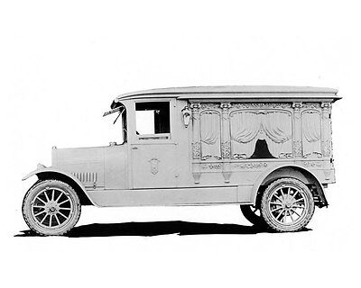 1915 Jeffery ORIGINAL Linen-Backed Carved Hearse Factory Photo oub4150