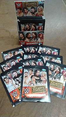 Topps WWE Ultimate Collection Stickers : Quantity: 10 25 40 packets or Box NEW!!