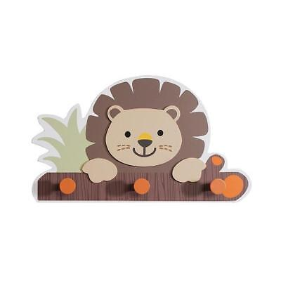 "Babies""R""Us 9775 Safari Brown Wooden Baby Boy Nursery Lion Wall Decor BHFO"