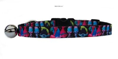 "EXCLUSIVE pink black   ""Troll's   "" safety kitten cat collar 3 sizes"