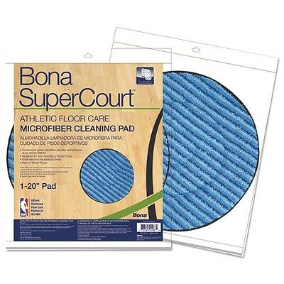 Bona Supercourt Athletic Floorcare Microfiber Cleaning Pad - AX0003502