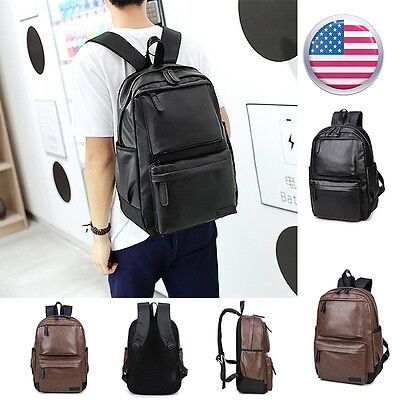 Fashion Women Leather Backpack School Bag Travel Rucksack Shoulder Bag B0009