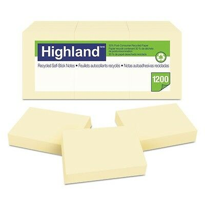 Highland Recycled Self-Stick Notes - 6539RP