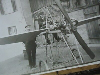 Aviation Photo Originale Curieux Avion Moteur Helice Mars 1913 Aeroplane