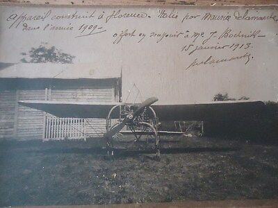 Aviation Rare Photo Original Aeroplane Maurice Delamarche Florence 1909 Bochnik