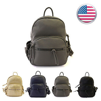 Girl Womens Fashion Leather Satchel Backpack Rucksack Shoulder travel School Bag