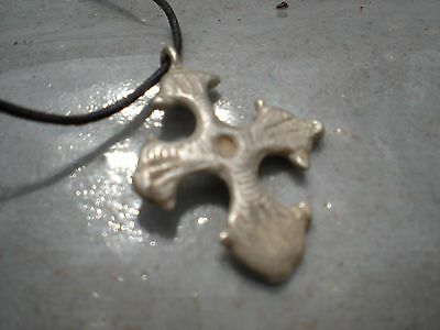 MEDIEVAL/KNIGHTS silver ancient cross 13-14 century