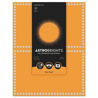Astrobrights Foil Enhanced Certificates - 91108