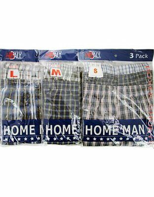 Lot of 96 Pairs Wholesale Men's Boxer Shorts Underwear Briefs (Assorted Sizes)