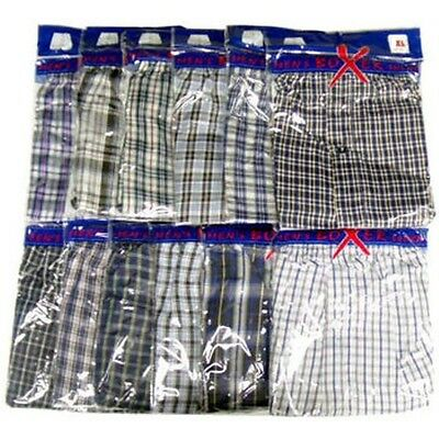 Lot of 72 Pairs Wholesale Men's Boxer Shorts Underwear Briefs (Assorted Sizes)