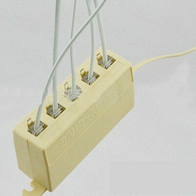 Telephone Line 5 Ways Outlet Phone Modular RJ11 Jack Adapter Splitter Connector