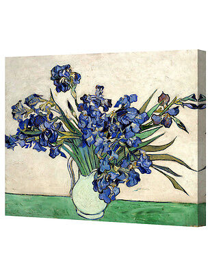 DecorArts Vase with Irises1889by VanGogh Giclee Print On Canvas Gallery Wrapped