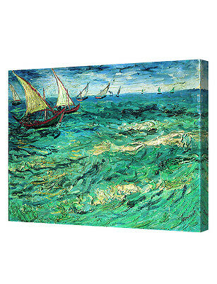 DecorArts Fishing Boats At Sea by VanGogh Art Giclee PrintOn CanvasGalleryWrappe