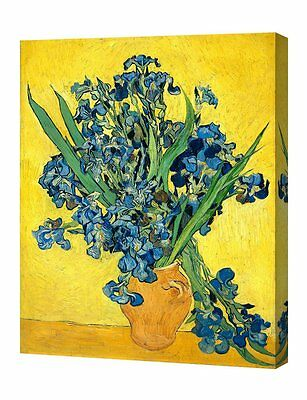 DecorArts Irises Vase Flower by Vincent Van Gogh Giclee Print Stretched Canvas