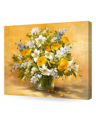 DecorArts Yellow roses and lilies Painting Reproduction Giclee Print