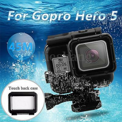 Black Waterproof Housing Case Cover Shell Touch Screen Backdoor For Gopro Hero 5