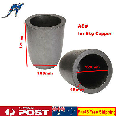 A8# Furnace Casting Foundry Graphite Crucible Melting Tool for 8KG Copper NEW