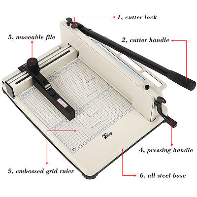 "New Heavy Duty Guillotine Paper Cutter 12"" Commercial Metal Base A4 Trimmer"