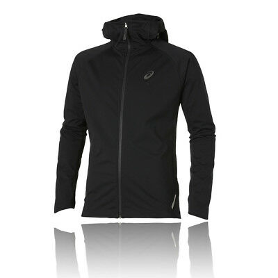 Asics FujiTrail SoftShell Mens Black Hoody Long Sleeve Zip Hooded Running Jacket