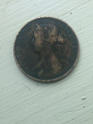 1864 One Cent New Brunswick Coin