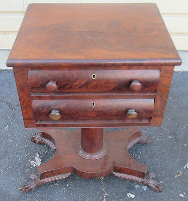 57469 Antique EMPIRE End Table Nightstand