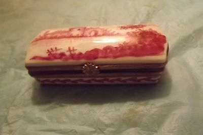 ANTIQUE TRINKET BOX Hand Painted  Early 1800's -FRENCH ?