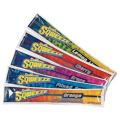 Sqwincher 3 oz Sqweeze Electrolyte Freezer Pop Assorted 159200201 (15 Bags of...