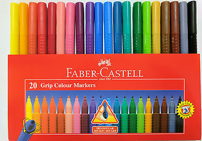 Faber-Castell 20 Pack Grip Colour Markers