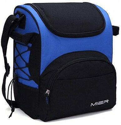 MIER Large Insulated Lunch Bag Picnic Cool Bag for Men and Women, with Bottle