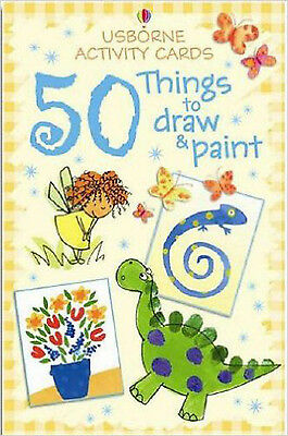 Activity Cards: 50 Things to Draw and Paint (Usborne Activity Cards), New,  Book