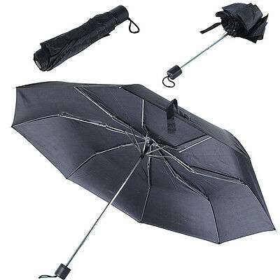 Portable Umbrella Waterproof Windproof Black Anti-UV Folding Umbrella Fashion