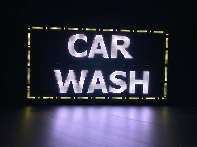 CAR WASH LED Scrolling WIFI iOS Android Digital Programmable Moving Sign Display