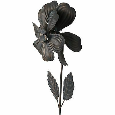 Country Flower Whirlygig 148cm | Weather Vane | Garden Stake