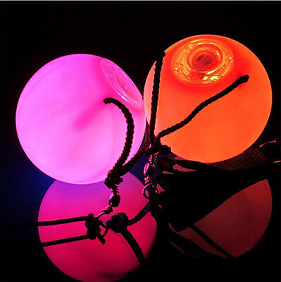 4 x Pro LED Multi-Coloured Glow POI Thrown Balls Light up Belly Dance Hand Props