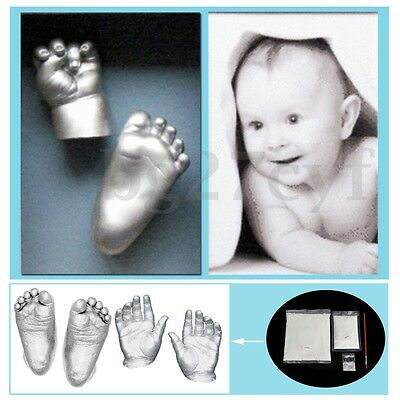 Baby 3D Plaster Handprints Footprints Hand&Foot Casting Mini Kit Keepsake Gift
