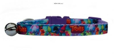 "EXCLUSIVE pink purple yellow    ""Troll's   "" safety kitten cat collar 3 sizes"