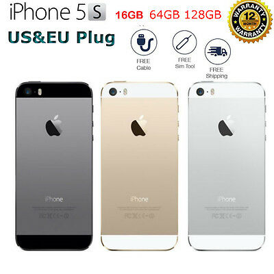 Apple iPhone 5S 32GB or 64GB Unlocked Smartphone in Gold, Silver or Space Gray