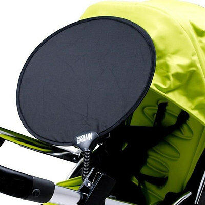 Brand new in pack My buggy buddy clip on sun shade in black for pram & pushchair