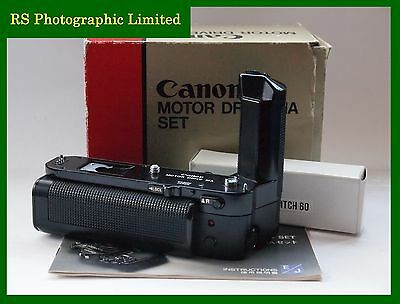 Canon Motor Drive MA Set with Box and Remote for A-1. Stock No. U7392